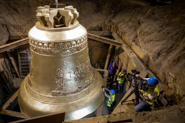 One of the world's largest bells unveiled