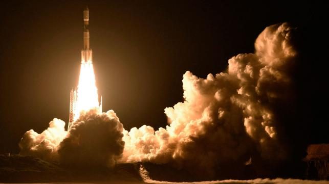Japanese space ship heads to space station