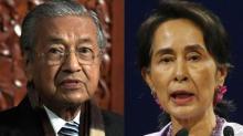 Malaysia will no longer support Aung San Suu Kyi says Mahathir