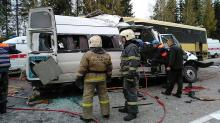 13 killed in Russian bus collision