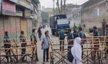 Capital city under security blanket
