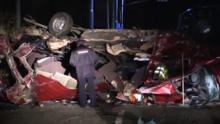 Eleven die as bus and truck collide in Russia