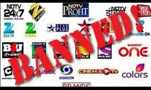 Indian TV channels banned in Pakistan again