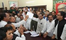 Quader collects nomination form for AL chief Hasina