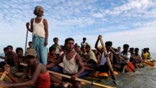 Myanmar holds 106 suspected Rohingya Muslims aboard boat: Official