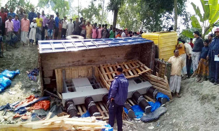 4 killed as truck hit easy bike in Rangpur