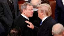 Trump clashes with US chief justice