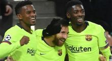 Messi leads Barcelona to 2-1 win over PSV Eindhoven