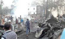 2 burnt alive in Shariatpur market fire