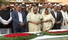 Sheikh Hasina launches polls campaign offering wreaths at Bangabandhu shrine