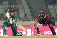 Tigers' poor batting allow WI to win in 1st T20