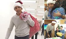 Dressed as Santa Claus, Obama surprises sick children in hospital