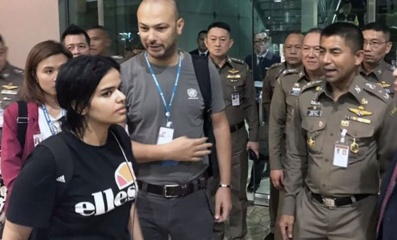 Rahaf al-Qunun: UNHCR 'grateful' Saudi woman not deported