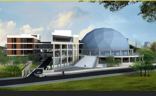 Work on Bangabandhu Novo Theater in Rajshahi progressing