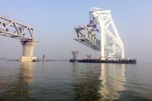 Over 1 km of Padma Bridge visible