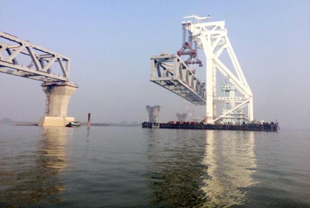 Over 1 km of Padma Bridge visible