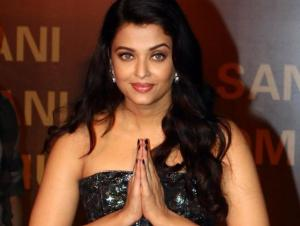 Aishwarya Rai Bachchan poses for photographers during a promotional event for Hindi Film Sarabjit in Mumbai. AFP Photo