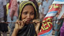 A mother waits for missing son