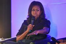 Michelle Obama on book tour encourages girls at London school
