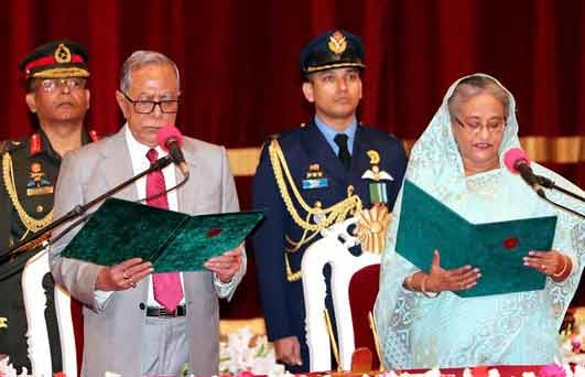 Hasina takes oath as PM for 4th term, forms 47-member council of ministers