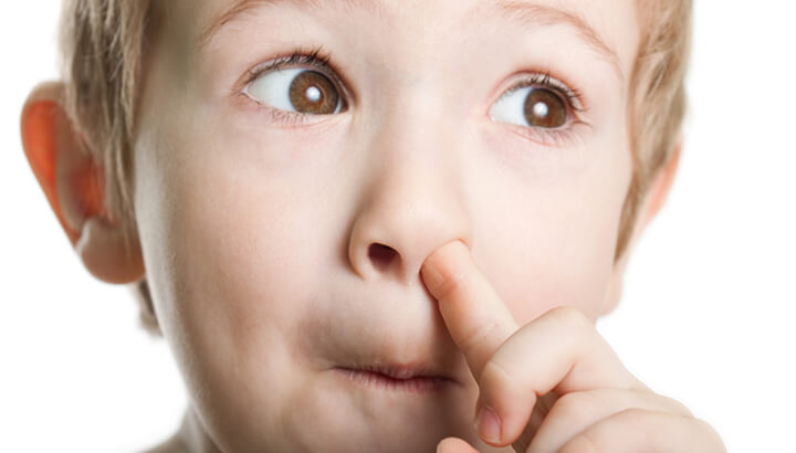 The gunk in your nose is GOOD for your health, claims a health report