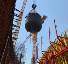 Core catcher installation begins at Rooppur power plant