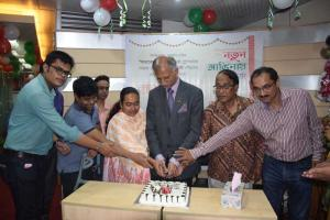A snap short of the inaugural ceremony of bbarta24.net new office at Kawran Bazar in the capital on Sunday.